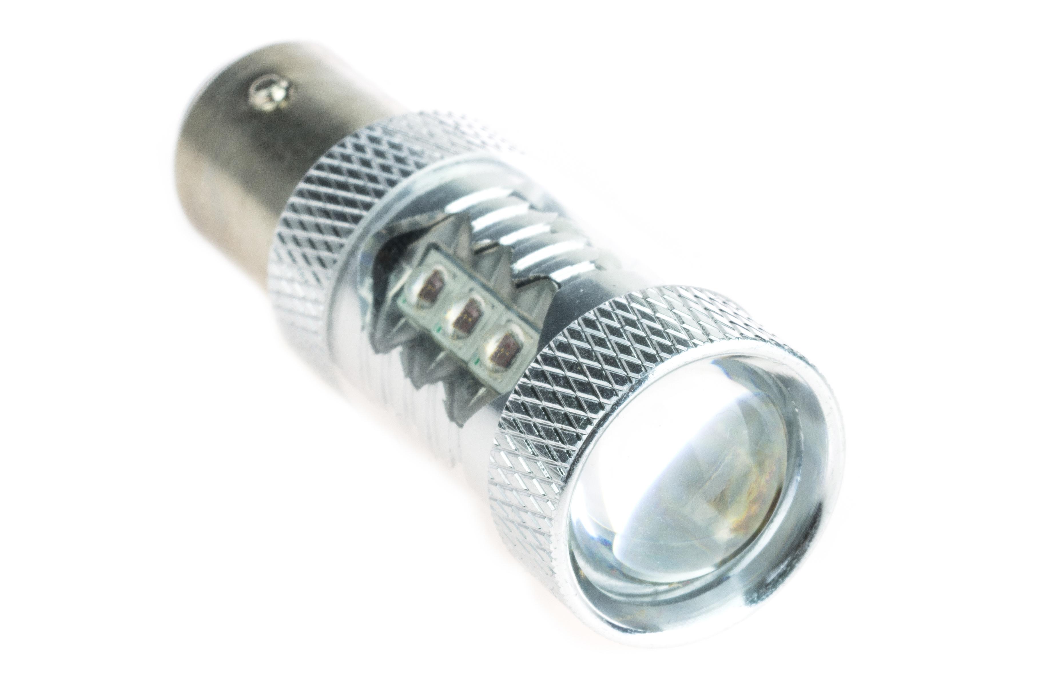 395da7702 Cree LED auto žiarovka BAZ15d P21/4W Canbus červená
